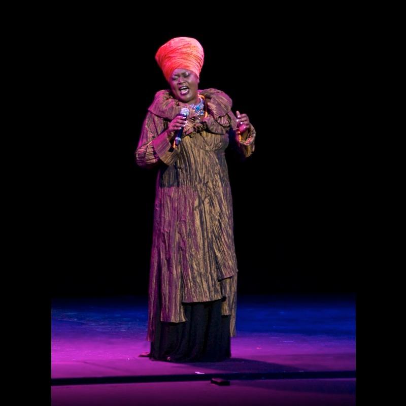 Jumoke Fashola singing God Bless The Child